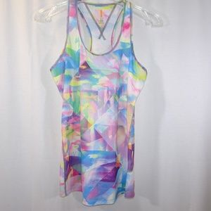 LUCY Athletic Tank Top Size S Watercolor Pastel